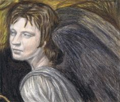 Roger Taylor as an angel by gagambo