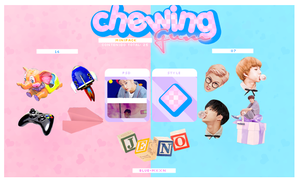 +CHEWING GUM minipack  special 1000 Watchers by blue-mxxn