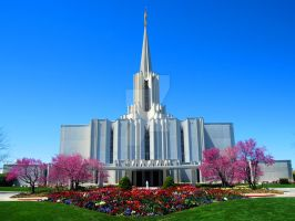 LDS River Jordan Temple by creativelycharged