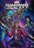 Guardians of the Galaxy by Puekkers