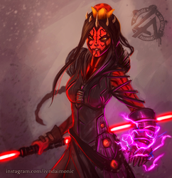 Darth Maulette by AresNeron