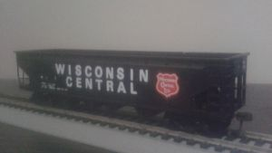 Wisconsin Central Black Coal Hopper by spencerbt123