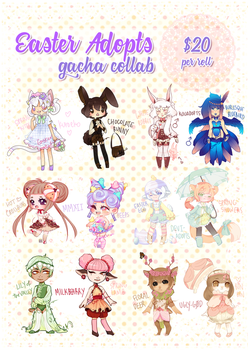Easter Gacha Collab! [OPEN] by kouadopts