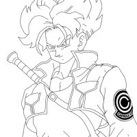 Trunks Lineart by RuokDbz98
