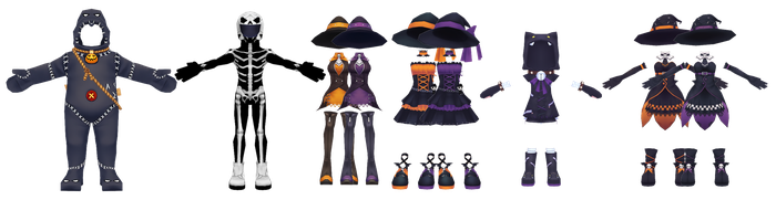 Rest of the Pangya Halloween Outfits (Unrigged) DL by Reseliee