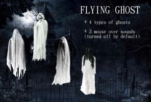 Flying Ghost for xwidget (animated) by Jimking