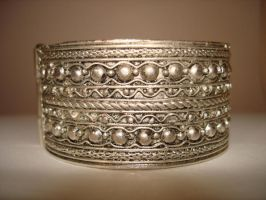 jewellery silver bracelet 1 by Visualjenna-Stock