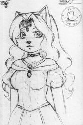 The Empress Avalon Sketch by KittMouri