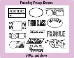 Photoshop Postage Brushes by ecovers