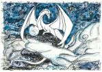 White astral dragon by ElenaZambelli