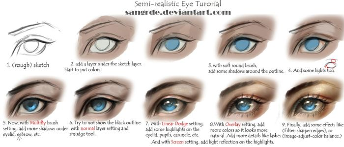 semi realistic eye tutorial by sangrde on deviantart