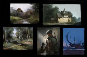 amazing painting studies (zoomed way out, 1 layer) by JordyLakiere