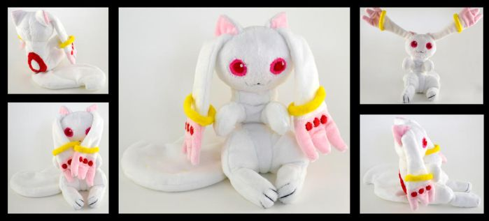 Kyubey Plush Commission by Willowlark