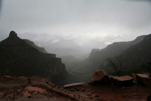 Foggy Canyon 14552798 by StockProject1