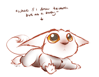 What if I drew Azimuth but as a baby by Teallaquin