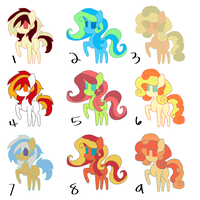 Adoptables Chibi Mare Ponies (1/9 Open) by PonyOfTardis