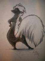 Skunk Pose by Possum-luver