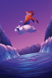 Crash and Polar - Sunset Vista Zine Submission by Dartzu