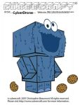 Cubeecraft - Cookie Monster by CyberDrone