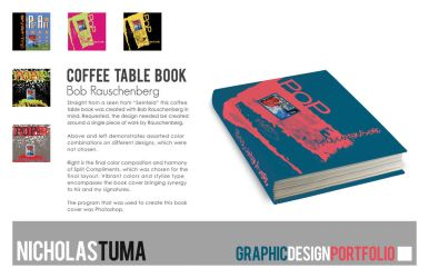 Bob Rauschenberg Book Cover by UntouchableDesign