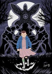 Eleven from Netflix Stranger Things by marciocabreira