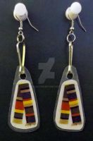 Doctor Who 4th Doctor Scarf Earrings by LyraAlluse
