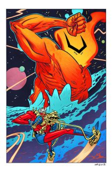 Orion vs Surtur by spidermanfan2099