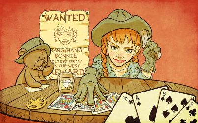 Cards at High Noon by LateWhiteRabbit