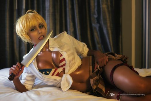 Food Wars Nikumi Cosplay : MEAT QUEEN by Khainsaw