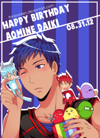 Happy Birthday Aomine DAKI--er--DAIKI by finnborden
