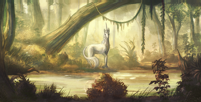 Whiteness and a shining horn by Tekila-onRice