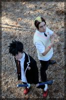 Blue Exorcist- Rin and Bon by twinfools