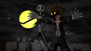 KH3 Halloween Town Sora and Jack Skellington by TheRPGPlayer