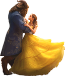 Belle and Beast (Full Body)-BatB 2017 PNG by nickelbackloverxoxox