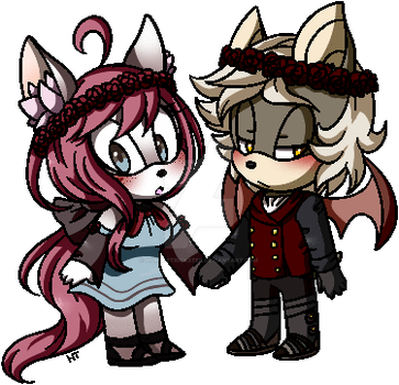 Flower Crown Sweethearts by HumbleTrickster