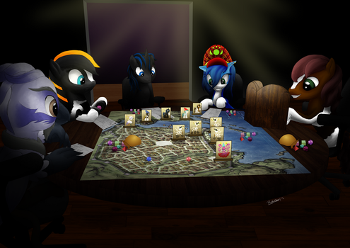 D+D Games night by Bethiebo