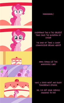 Mini Pinkie Goodnight: Let Her Eat Cake by MLP-Silver-Quill