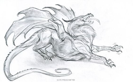 Stretchy Dragon by KatePfeilschiefter
