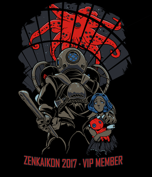 Zenkaikon 2017 VIP Shirt - The Diver by ghostfire
