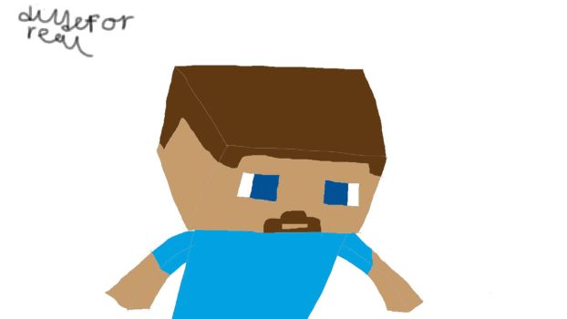 Minecraft steve by Igotthisdudeforreal