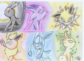 My fav Eeveelutions by Videogamescool