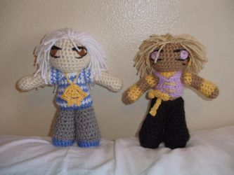 YGO: Bakura and Malik Dolls by yellow-jester-kitty