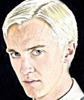 Draco Malfoy portrait VI year by Dhesia