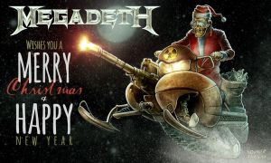 Megadeth Christmas Card 2014 by Noumier