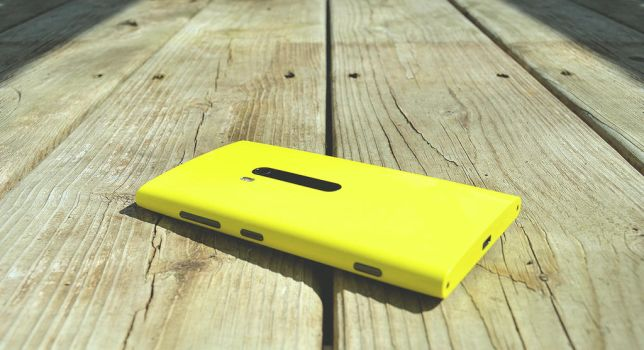 Nokia Lumia 920 Yellow by UVSoak3d