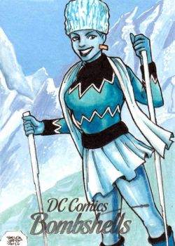 DC Bombshells - KILLER FROST sketchcard by JASONS21