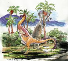 Therizinosaur - in Color! by JeffDee