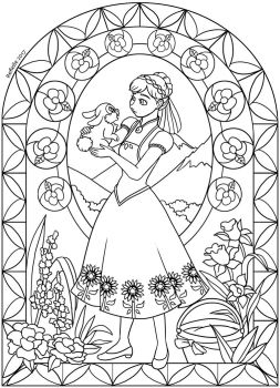 Disney's Frozen Fever - Stained Glass by Refielle