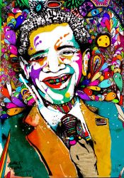 Obama facing the colors by russetman