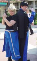 Riza Hawkeye and Roy Mustang by Toboe